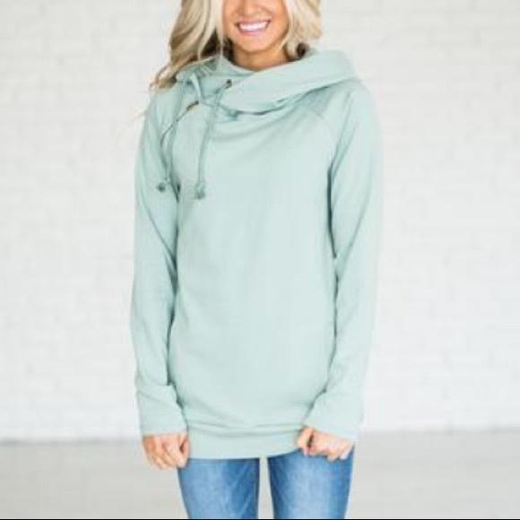 Ampersand Avenue Tops - NEW DoubleHood Sweatshirt in Mint Seafoam
